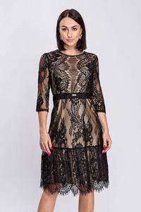 Sukienka Semper z tkaniny z długim rękawem