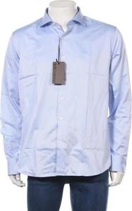 Niebieska koszula Roberto Cavalli z długim rękawem