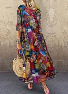 Sukienka Sandbella maxi w stylu boho oversize