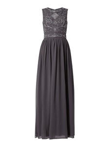 Sukienka Lace & Beads maxi z dekoltem w kształcie litery v z szyfonu