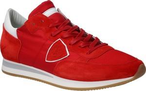 Buty sportowe Philippe Model sznurowane z zamszu