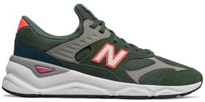 Zielone buty sportowe New Balance w sportowym stylu z zamszu