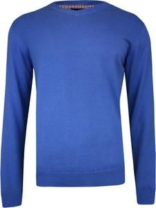 Niebieski sweter Adriano Guinari z bawełny