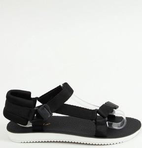 Czarne sandały Buty Damskie z klamrami w stylu casual