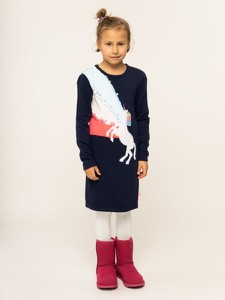 Granatowa sukienka dziewczęca Billieblush