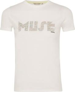 T-shirt MEXX z krótkim rękawem z okrągłym dekoltem