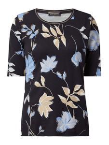 Granatowa bluzka Betty Barclay z okrągłym dekoltem z krótkim rękawem