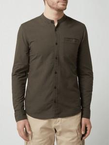 Zielona koszula Q/s Designed By - S.oliver ze stójką