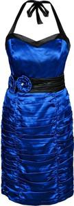 Sukienka Fokus dopasowana z długim rękawem