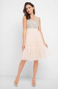 Różowa sukienka ORSAY mini bez rękawów