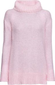 Różowy sweter bonprix RAINBOW w stylu casual