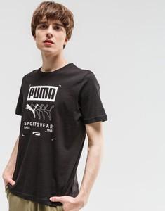 Czarny t-shirt Puma z nadrukiem
