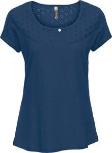 Niebieski t-shirt bonprix RAINBOW w stylu casual