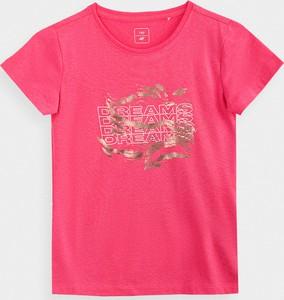 Koszulka dziecięca 4F z bawełny z krótkim rękawem