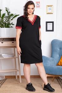 Sukienka KARKO z dzianiny mini z krótkim rękawem