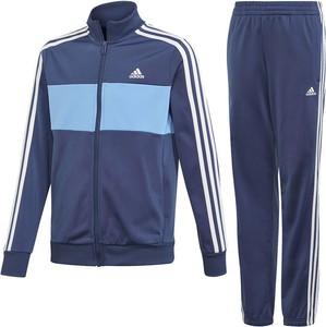 Niebieski dres dziecięcy Adidas w paseczki