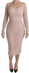 Sukienka Dolce & Gabbana z długim rękawem bodycon midi