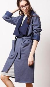Niebieski płaszcz Cado Accessories w stylu casual