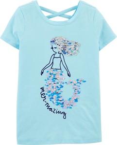 Niebieska koszulka dziecięca OshKosh z krótkim rękawem