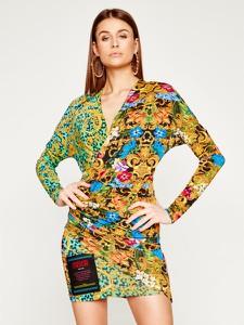Sukienka Versace Jeans w stylu casual z długim rękawem kopertowa