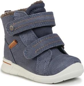 Granatowe buty dziecięce zimowe Ecco