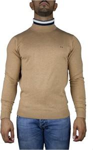 Brązowy sweter Sun68 w stylu casual z wełny