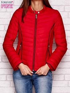 Czerwona kurtka Sheandher.pl w stylu casual krótka