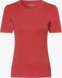 Czerwony t-shirt brookshire w stylu casual z krótkim rękawem