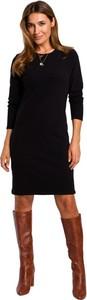 Czarna sukienka Style w stylu casual z długim rękawem