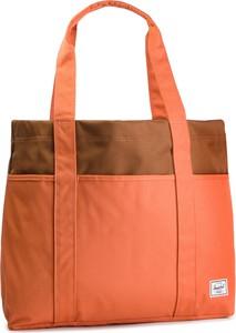 039e82ecb995a Pomarańczowa torebka Herschel Supply Co. na ramię w młodzieżowym stylu duża