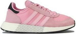 Różowe buty sportowe Adidas Originals w sportowym stylu z płaską podeszwą sznurowane