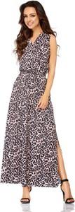 Sukienka Lemoniade maxi z dekoltem w kształcie litery v bez rękawów
