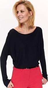 Granatowy sweter Top Secret w stylu casual z dzianiny