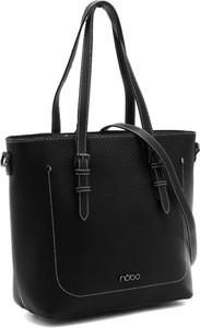 Czarna torebka NOBO duża ze skóry na ramię