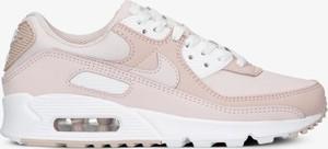 Różowe buty sportowe Nike ze skóry z płaską podeszwą
