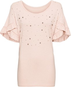 Różowy t-shirt bonprix BODYFLIRT
