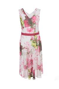 Sukienka Fokus bez rękawów z dekoltem w kształcie litery v midi