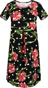 Sukienka Fokus z krótkim rękawem z okrągłym dekoltem mini