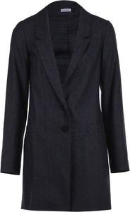Granatowy płaszcz VISSAVI z wełny