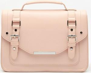 Różowa torebka House do ręki w stylu casual