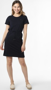 Sukienka Tommy Hilfiger z dżerseju mini z okrągłym dekoltem