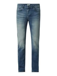 Turkusowe jeansy McNeal z bawełny