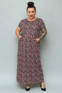 Sukienka KARKO w stylu casual maxi z krótkim rękawem