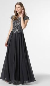 Czarna sukienka Luxuar Fashion z dekoltem w kształcie litery v z krótkim rękawem