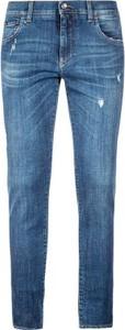 Niebieskie jeansy Dolce & Gabbana z bawełny