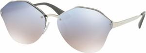 Srebrne okulary damskie Prada Eyewear