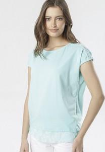 Bluzka born2be w stylu casual z okrągłym dekoltem z krótkim rękawem