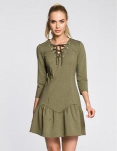 Zielona sukienka MOE mini