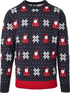 Granatowy sweter Emp w młodzieżowym stylu
