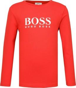 Czerwona bluzka dziecięca Boss